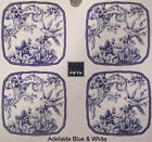 222 Fifth Adelaide Blue Appetizer Plates ▬ Set of 4 ▬ New