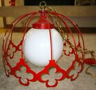 Mid-Century Modern Light Fixture Red GORGEOUS!! Kitchen/Dining/Hall