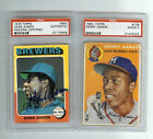 1954 Topps Henry Aaron RC Graded PSA Plus 1975 Auto Sign Baseball Card L@@@@K