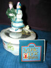 schmid yamada music box vintag skaters on ice animated  french style signed