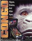 CONGO By WILLIAMS 1995 ORIGINAL NOS PINBALL MACHINE SALES FLYER BROCHURE