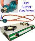 Portable Dual Double Two 2 Burners Propane Gas Camping Stove Grill BBQ Cooking