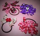 Handmade 4 Ponytail Holders