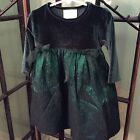 Girls Mousefeathers Holiday Dress Boutique Pageant Velvet 2T 2 Green Free Ship
