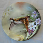 ANTIQUE LIMOGES FRANCE PLATE CHARGER HAND PAINTED GAME BIRD SIGNED 12