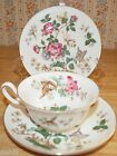 WEDGWOOD Tea Cup & Saucer Charnwood  Pattern  Butterflys Teacup Trio 3 pcs.
