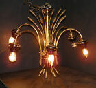 Gorgeous,Vintage, 6 Arms,solid brass, ornate, hanging fixture/chandelier  39