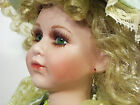 Christina Verdi Doll Porcelain Blond Green Eyes  Dress Victorian 16