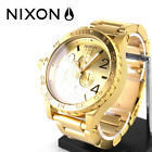 NEW in BOX Nixon 51-30 ALL Gold Chrono watch! WARRANTY! FREE SHIP! WITH LINK!