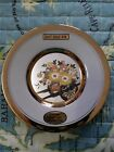 The Art of Chokin 24kt Gold Collectors Plate Cart, Flowers, Birds and Butterfly