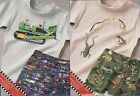 2X DAISY KINGDOM BULLDOZER FROGS IRON ON TRANSFER CHILDS SHORTS SEW PATTERN 3-10