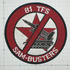 USAF, Air Force, 81st Tactical Fighter Sq (TFS) patch, Sam Busters