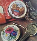 Keepers Of Keys Crewel Embroidery Kit Keychain US Seal Flowers Erica Wilson vtg