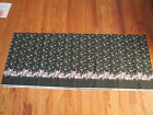 VINTAGE DAISY KINGDOM BLACK WITH PINK ROSES FABRIC COTTON 3 YARDS + 6