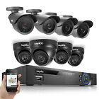 SANNCE 8 CH HDMI 960H Security DVR CCTV System Indoor Outdoor 800TVL IR Cameras