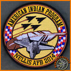 AIR FORCE AMERICAN INDIAN PROGRAM PATCH, NELLIS AFB, F-22 RAPTOR LIMITED RELEASE