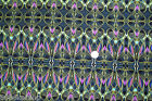 Quilt Fabric Paula Nadelstern PATTERNISTA OLIVE PINK CHORUS 1 YD Cotton Benartex