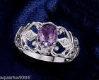 AVON Sterling Silver Oval Genuine Amethyst Ring Gift Boxed