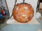 Vintage Chunky Lucite Rock Candy Hanging Swag Lamp Light Spaghetti Mid Century
