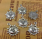 Free Shipping 10 PCS Tibetan Silver Crafts Sunflowers Charms Pendants Crafts
