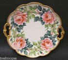 Lovely Hand Painted Antique Limoges Porcelain Charger Plate Roses 1900 Signed