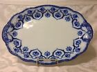 1891-1920 Beautiful Wm Grindley & Co Flow Blue Large Oval Serve Platter; Great