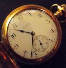 18K Gold Pocket Watch 1908 Elgin,12-Hr & 60-Sec, Antique, Hand-winding, USA