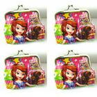 1x Sofia princess Girls CHILDREN Coins Money Pouch Bag Purse Wallet 8*6cm F356