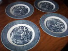 CURRIER & IVES OLD GRIST MILL PATTERN DINNER PLATES