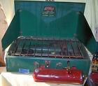 COLEMAN 413G 2 BURNER CAMP EMERGENCY STOVE DATED 5-66!