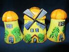 OCCUPIED JAPAN..SALT PEPPER SHAKERS...WINDMILL..SPICE JAR..GOOD USED CONDITION!!