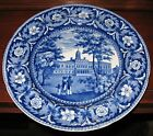 ANTIQUE RIDGWAY BLUE HISTORICAL STAFFORDSHIRE PLATE CITY HALL NEW YORK 10