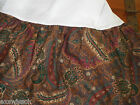 RALPH LAUREN RUE DES ARTISTES PAISLEY RED/BROWN/TAN/GREEN  QUEEN  SIZE BEDSKIRT