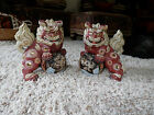 Japan Foo Dogs HUGE Foo Lions ShiShi Moriage approx 12 Inches Tall
