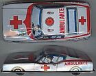 Vintage 1960's Tin Toy Friction Ford Mustang Ambulance-Made in Japan-Collectible