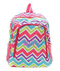 Personalized Chevron Large School Book Bag Backpack FREE Monogram Embroidery PMT