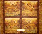 VIP Hautman Deer Doe Buck Scenes Nature Tree Animal Cotton Fabric 1.5 PANELS
