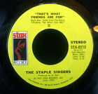 "7"" STAPLE SINGERS - city in the sky / that's what friends are for, nm"