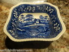Copeland Spode's Tower Blue Fine China Dinnerware Square Berry or Salad Bowl Y41
