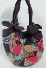 Patchwork HIPPIE Boho Shoulder BAG Purse HOBO Cotton PURPLE Corduroy FLOWERS Guc