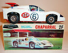 ALPS Japanese Tin Litho Batt Op 1960s CHAPARRAL 2F RACER with BOX ~ 10.75-inch
