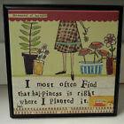 CURLY GIRL WALL ART HAPPINESS PLANTED gardener 13223 renewal of spirit joy
