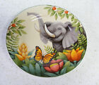 AWESOME! Collectible Sakura Jungle Animals ELEPHANT plate by Stephanie Stouffer
