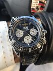 BREITLING Crosswind Windrider Chronograph Blue Mens Watch Stainless A44355 Watch