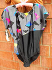Vintage 80s Danskin size Large / 42  Womens Leotard dance Romper with Tags NWT