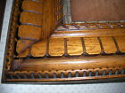 ANTIQUE PAIR OF  SOLID OAK ORNATE PICTURE FRAMES WITH GESSO