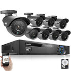 SANNCE 8CH 960H HDMI Video DVR 8 800TVL Outdoor CCTV Security Cameras System 1TB