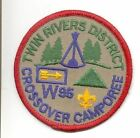 1995 Twin Rivers District Crossover Camporee patch