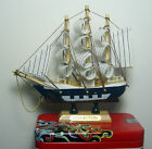 1x Vintage wood model wooden sail ship boat 5.2