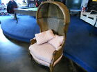French Louis XV style vintage Porter Chair cane wicker Weiman Warren Lloyd